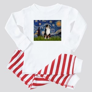 Starry/Australian Shep #2 Baby Pajamas