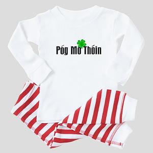 Pog Mo Thoin Text Baby Pajamas