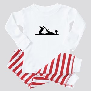 Hand Plane Silhouette Baby Pajamas