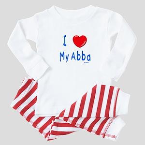 I Love Abba Jewish Kids Baby Pajamas