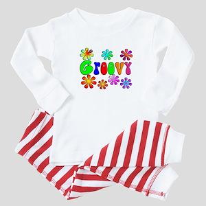 Retro Vintage 70's Baby Pajamas
