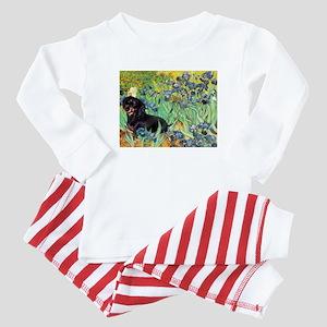 Irises & Dachshund (BT4) Baby Pajamas