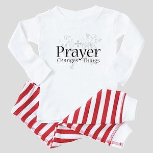 Prayer Changes Things Baby Pajamas