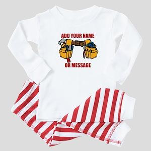 PERSONALIZED Tool Belt Graphic Baby Pajamas