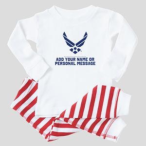PERSONALIZED U.S. Air Force Logo Baby Pajamas