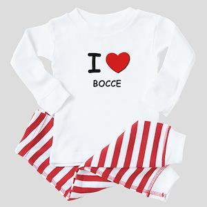 I love bocce  Baby Pajamas