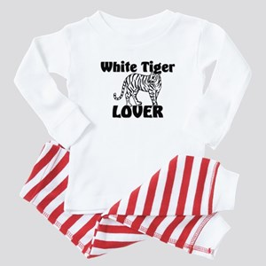 White Tiger Lover Baby Pajamas