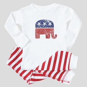 Worn Republican Elephant Baby Pajamas