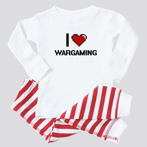 I Love Wargaming Digital Design Baby Pajamas