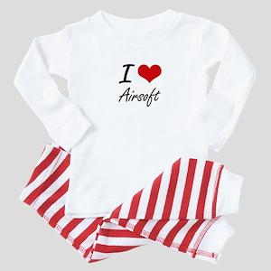 I Love Airsoft artistic Design Baby Pajamas