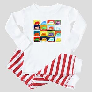 westy squares Baby Pajamas