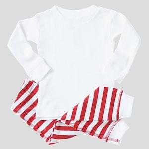 Akita head white Baby Pajamas