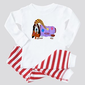 Basset Hound Bedtime Baby Pajamas
