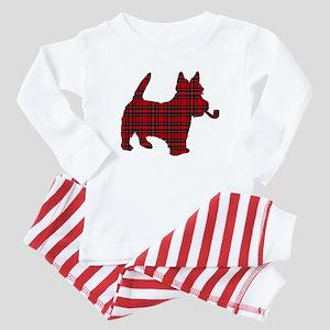 Scottish Terrier Tartan Baby Pajamas