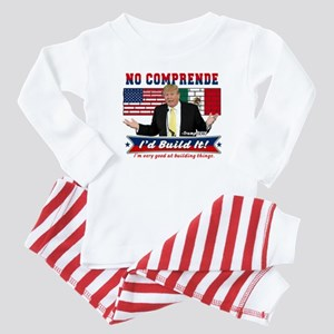 Trump 2016 Mexico US Wall Baby Pajamas