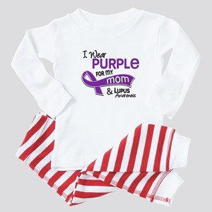 I Wear Purple 42 Lupus Baby Pajamas