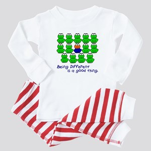 Being Different 1 (FROGS) Baby Pajamas