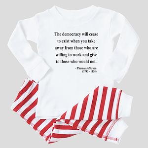 Thomas Jefferson 3 Baby Pajamas