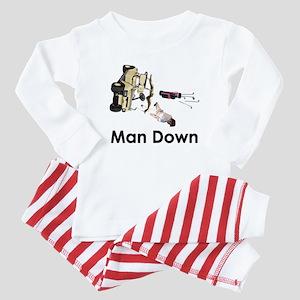 MAN DOWN Baby Pajamas
