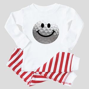 Golf Ball Smiley Baby Pajamas