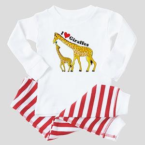 I Love Giraffes Baby Pajamas