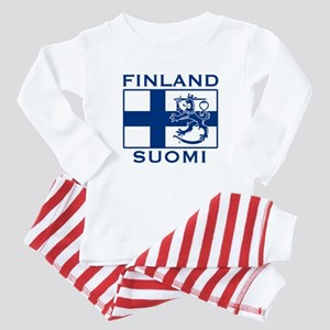 Finland Suomi Flag Baby Pajamas
