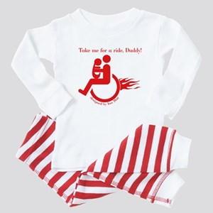 Father in wheelchair - Disability Baby Pajamas