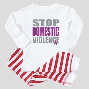 Stop Domestic Violence Baby Pajamas
