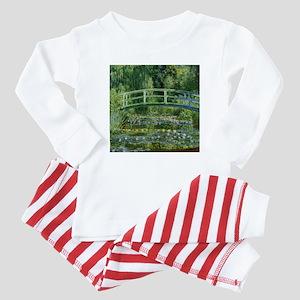 Monet Japanese Bridge Baby Pajamas