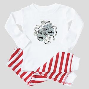 Comedy Tragedy Masks Baby Pajamas