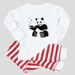 cafepress panda1 Baby Pajamas