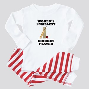 Worlds Smallest Cricket Player Baby Pajamas
