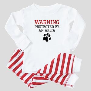 Protected By An Akita Baby Pajamas