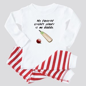 My Favorite Cricket Player Is My Daddy Baby Pajama