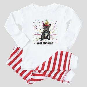 Custom French Bulldog Birthday Baby Pajamas