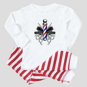 Barber Logo Baby Pajamas