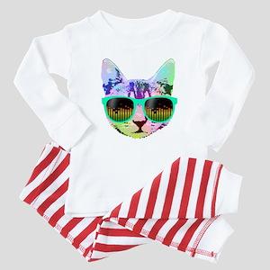 Rainbow Music Cat Baby Pajamas