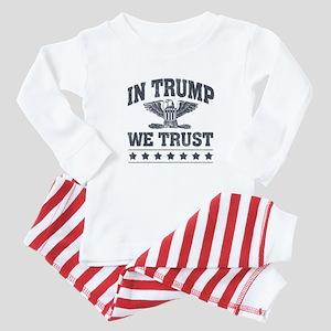 In Trump We Trust Baby Pajamas