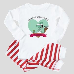 Snoopy Nursing - Personalized Baby Pajamas