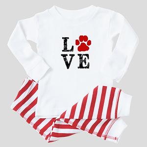 Love with a paw Baby Pajamas