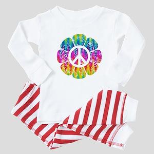 Colorful Peace Flower Baby Pajamas