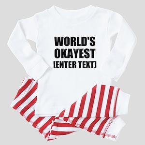 World's Okayest Personalize It! Baby Pajamas