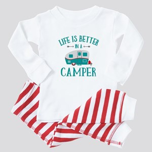 Life's Better Camper Baby Pajamas