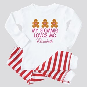 Grammie Loves Me Personalized Baby Pajamas