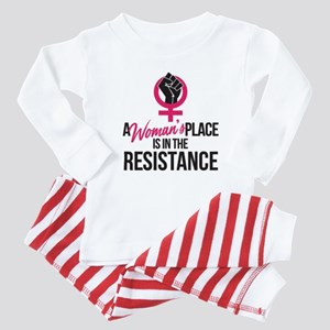 Womans Place in Resistance Baby Pajamas
