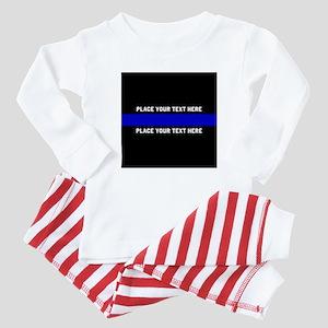 Thin Blue Line Customized Baby Pajamas