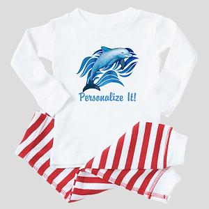 PERSONALIZED Ocean Dolphin Baby Pajamas