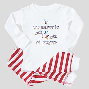 The Answer to Prayers Baby Pajamas