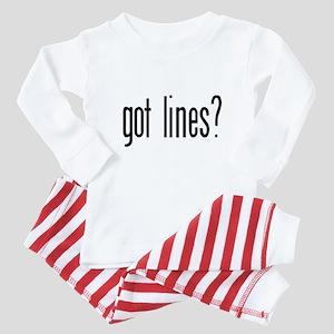 Got lines? Baby Pajamas