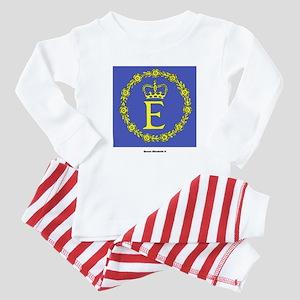Queen Elizabeth II Flag Baby Pajamas